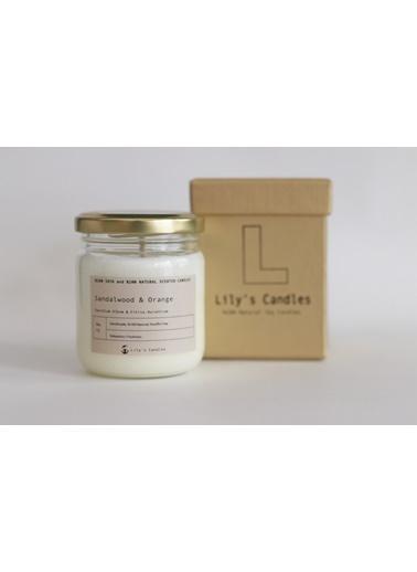 Lily's Candles Sandal Ağacı & Portakal Doğal Mum Beyaz